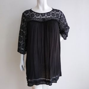 Umgee Black Lace Top 1XL